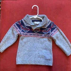 Toddler boys toggle button sweater